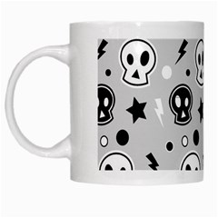 Skull Pattern White Mugs by BangZart
