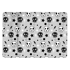 Skull Pattern Samsung Galaxy Tab 10 1  P7500 Flip Case
