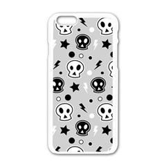 Skull Pattern Apple Iphone 6/6s White Enamel Case