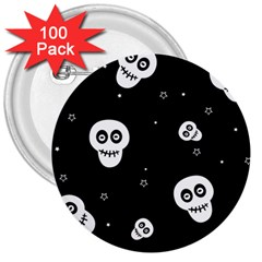 Skull Pattern 3  Buttons (100 Pack)  by BangZart