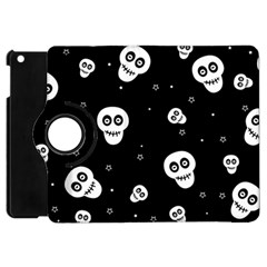 Skull Pattern Apple Ipad Mini Flip 360 Case