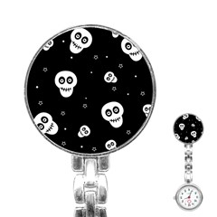 Skull Pattern Stainless Steel Nurses Watch by BangZart