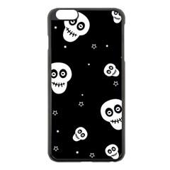 Skull Pattern Apple Iphone 6 Plus/6s Plus Black Enamel Case
