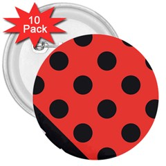 Abstract Bug Cubism Flat Insect 3  Buttons (10 Pack)