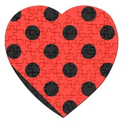 Abstract Bug Cubism Flat Insect Jigsaw Puzzle (heart)