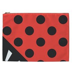 Abstract Bug Cubism Flat Insect Cosmetic Bag (xxl)