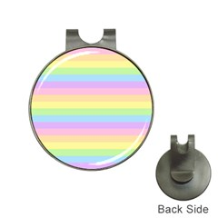 Cute Pastel Rainbow Stripes Hat Clips With Golf Markers