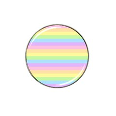 Cute Pastel Rainbow Stripes Hat Clip Ball Marker (4 Pack)