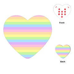 Cute Pastel Rainbow Stripes Playing Cards (heart)