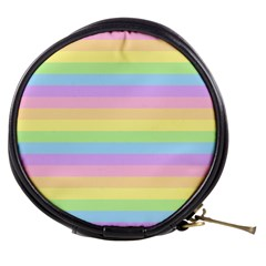 Cute Pastel Rainbow Stripes Mini Makeup Bags