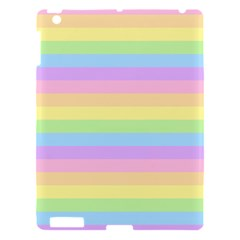 Cute Pastel Rainbow Stripes Apple Ipad 3/4 Hardshell Case