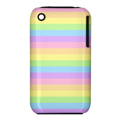Cute Pastel Rainbow Stripes Iphone 3s/3gs by BangZart