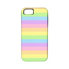 Cute Pastel Rainbow Stripes Apple Iphone 5 Classic Hardshell Case (pc+silicone)