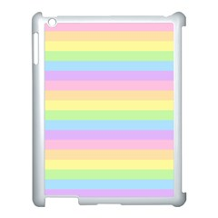 Cute Pastel Rainbow Stripes Apple Ipad 3/4 Case (white) by BangZart