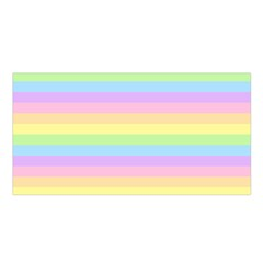 Cute Pastel Rainbow Stripes Satin Shawl