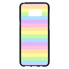 Cute Pastel Rainbow Stripes Samsung Galaxy S8 Plus Black Seamless Case