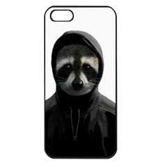 Gangsta Raccoon  Apple Iphone 5 Seamless Case (black) by Valentinaart