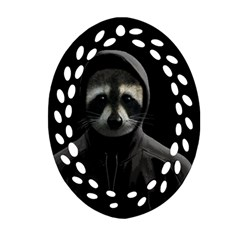 Gangsta Raccoon  Oval Filigree Ornament (two Sides) by Valentinaart