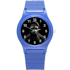 Gangsta Raccoon  Round Plastic Sport Watch (s) by Valentinaart