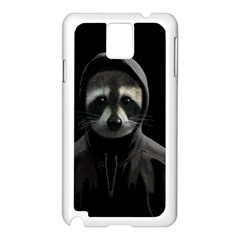 Gangsta Raccoon  Samsung Galaxy Note 3 N9005 Case (white) by Valentinaart