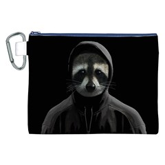 Gangsta Raccoon  Canvas Cosmetic Bag (xxl) by Valentinaart