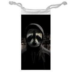Gangsta Raccoon  Jewelry Bag by Valentinaart