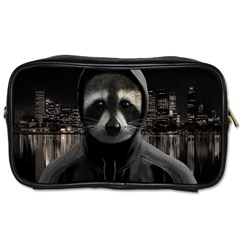 Gangsta Raccoon  Toiletries Bags 2 Side by Valentinaart