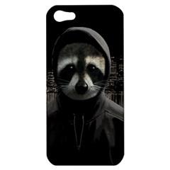 Gangsta Raccoon  Apple Iphone 5 Hardshell Case by Valentinaart