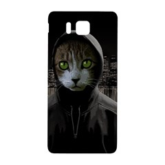 Gangsta Cat Samsung Galaxy Alpha Hardshell Back Case by Valentinaart