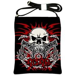 Acab Tribal Shoulder Sling Bags by Valentinaart