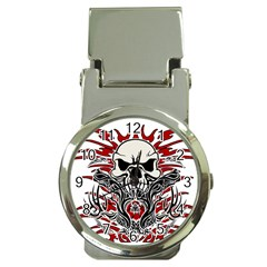 Skull Tribal Money Clip Watches by Valentinaart