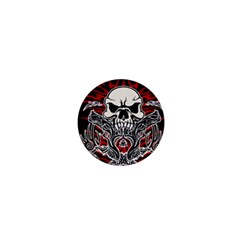 Skull Tribal 1  Mini Buttons by Valentinaart