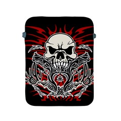 Skull Tribal Apple Ipad 2/3/4 Protective Soft Cases by Valentinaart
