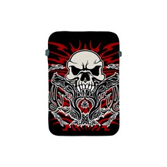 Skull Tribal Apple Ipad Mini Protective Soft Cases by Valentinaart