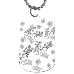 Ornate Lizards Dog Tag (one Side) by Valentinaart