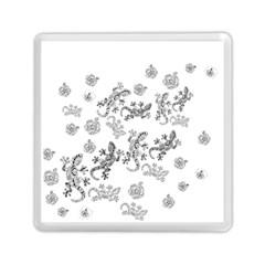 Ornate Lizards Memory Card Reader (square)  by Valentinaart