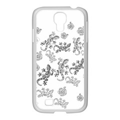 Ornate Lizards Samsung Galaxy S4 I9500/ I9505 Case (white) by Valentinaart