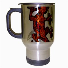 Ornate Lizards Travel Mug (silver Gray) by Valentinaart