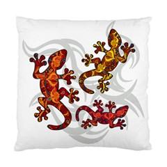 Ornate Lizards Standard Cushion Case (one Side) by Valentinaart