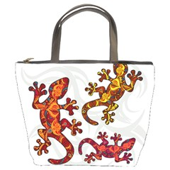 Ornate Lizards Bucket Bags by Valentinaart