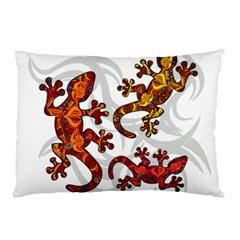 Ornate Lizards Pillow Case by Valentinaart