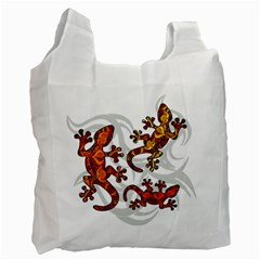 Ornate Lizards Recycle Bag (one Side) by Valentinaart