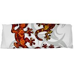 Ornate Lizards Body Pillow Case Dakimakura (two Sides) by Valentinaart