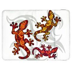 Ornate Lizards Samsung Galaxy Tab 7  P1000 Flip Case by Valentinaart