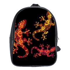 Ornate Lizards School Bags (xl)  by Valentinaart