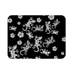 Ornate Lizards Double Sided Flano Blanket (mini)  by Valentinaart
