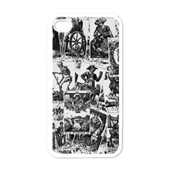 Tarot Cards Pattern Apple Iphone 4 Case (white) by Valentinaart