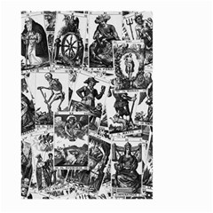 Tarot Cards Pattern Large Garden Flag (two Sides) by Valentinaart