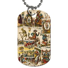 Tarot Cards Pattern Dog Tag (one Side) by Valentinaart