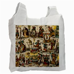 Tarot Cards Pattern Recycle Bag (one Side) by Valentinaart